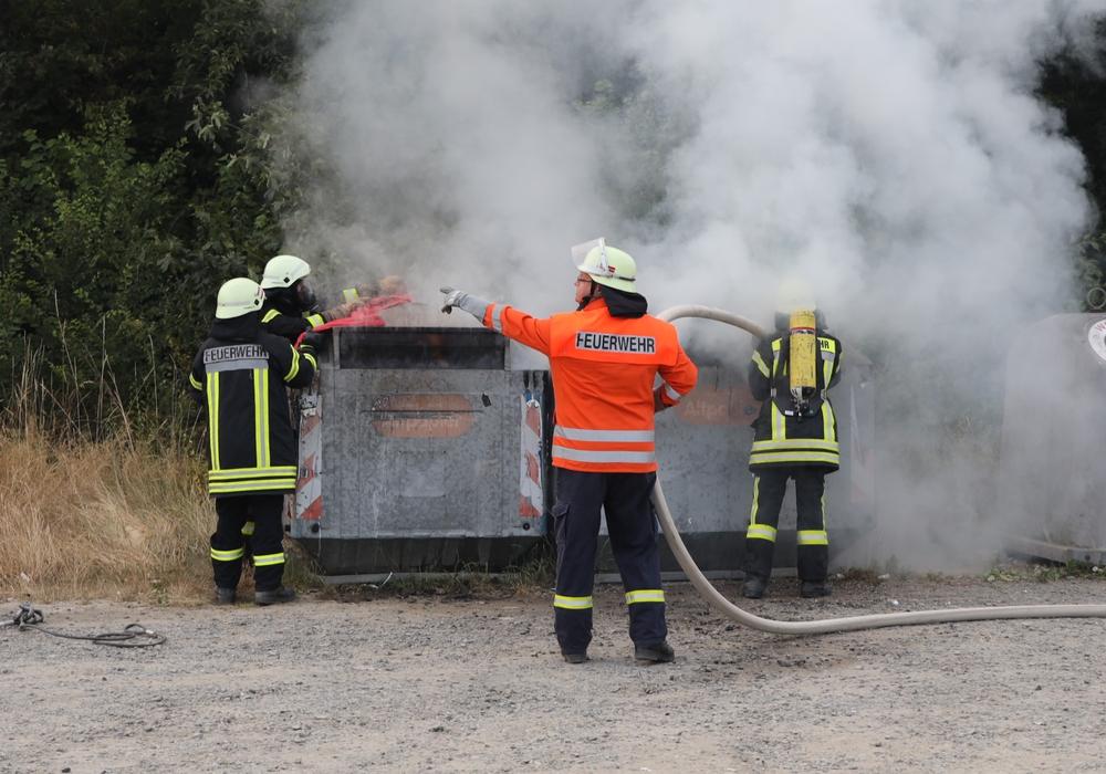 Bereits im Juli 2019 hatte ein Container in Fümmelse gebrannt. Archivbild