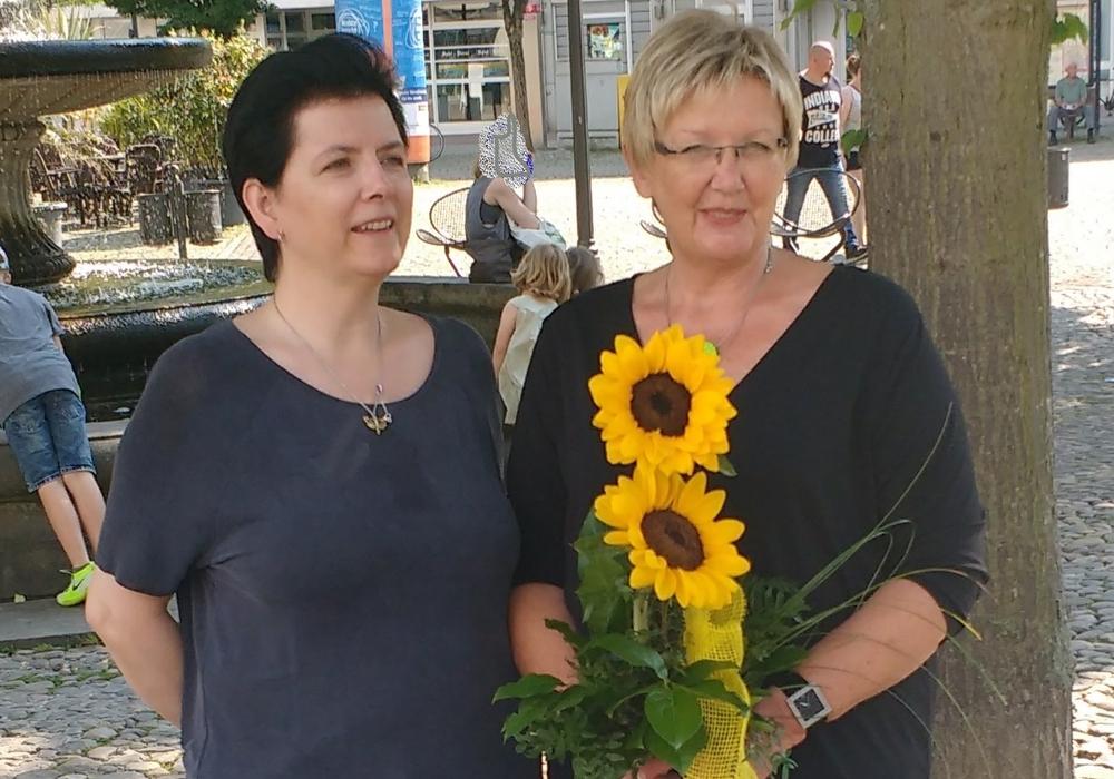 Katrin Yesim Rupp (li.)  und Doris Meyermann. Foto: Bündnis 90/Die Grünen