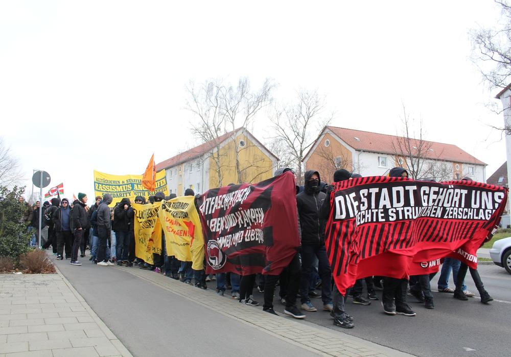 Demo gegen Rechts in Braunschweig. Foto: Jan Borner