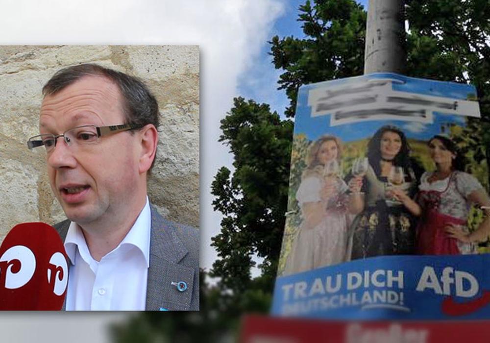 Stefan Marzischewski-Drewes beklagt sich über politische Gewalt gegen die AfD. Foto: Jan Weber; Nicole Wiedemann