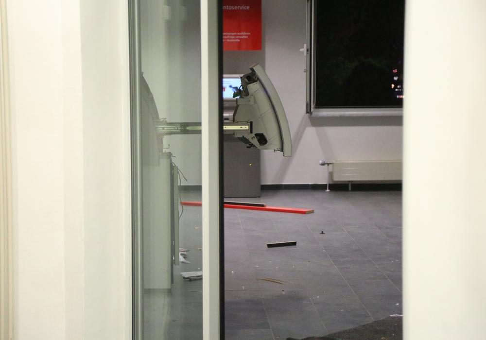 Gesprengter Geldautomat in Helmstedt. Foto: aktuell24 (BM)