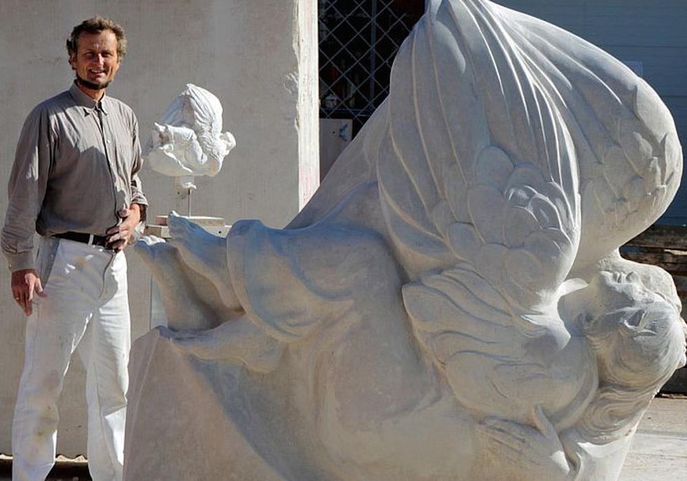 """Die zweite Skulptur zum Kunstprojekt """"500 Jahre Reformation"""" der Landeskirche Braunschweig wird am kommenden Sonntag bei Hornburg enthüllt. Foto:  Dr. Josef Temming."""
