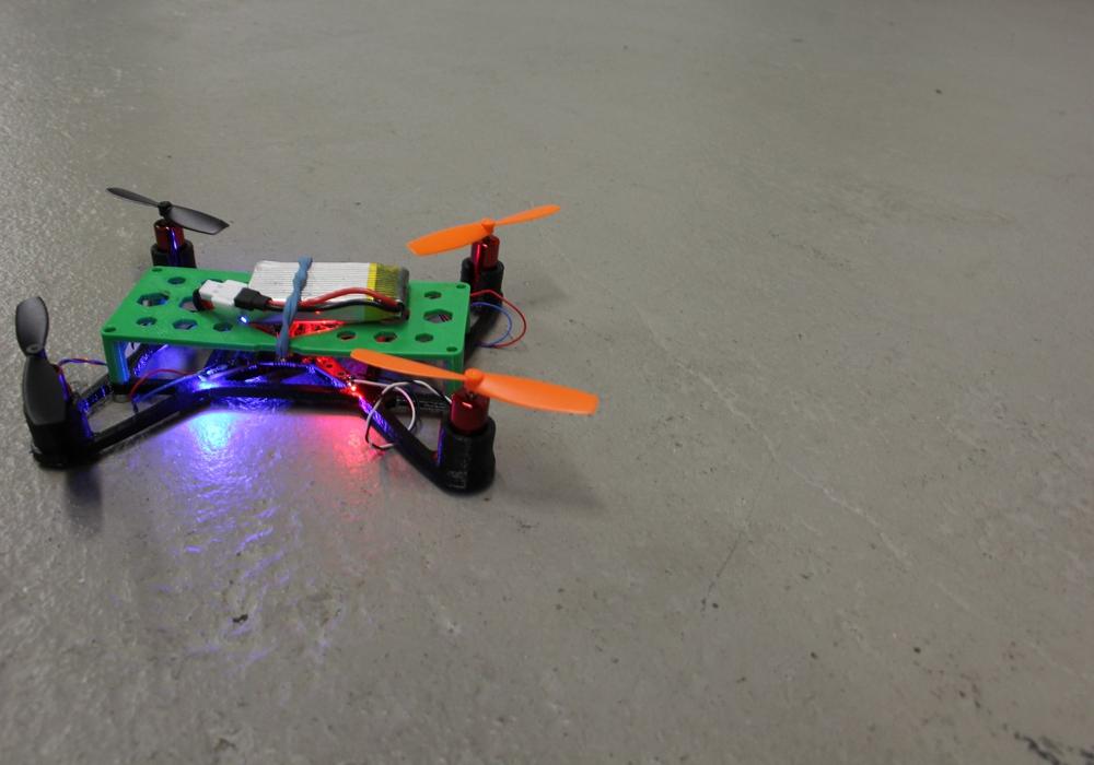 Mit der Mini-Drohne in die Luft. Foto: Protohaus