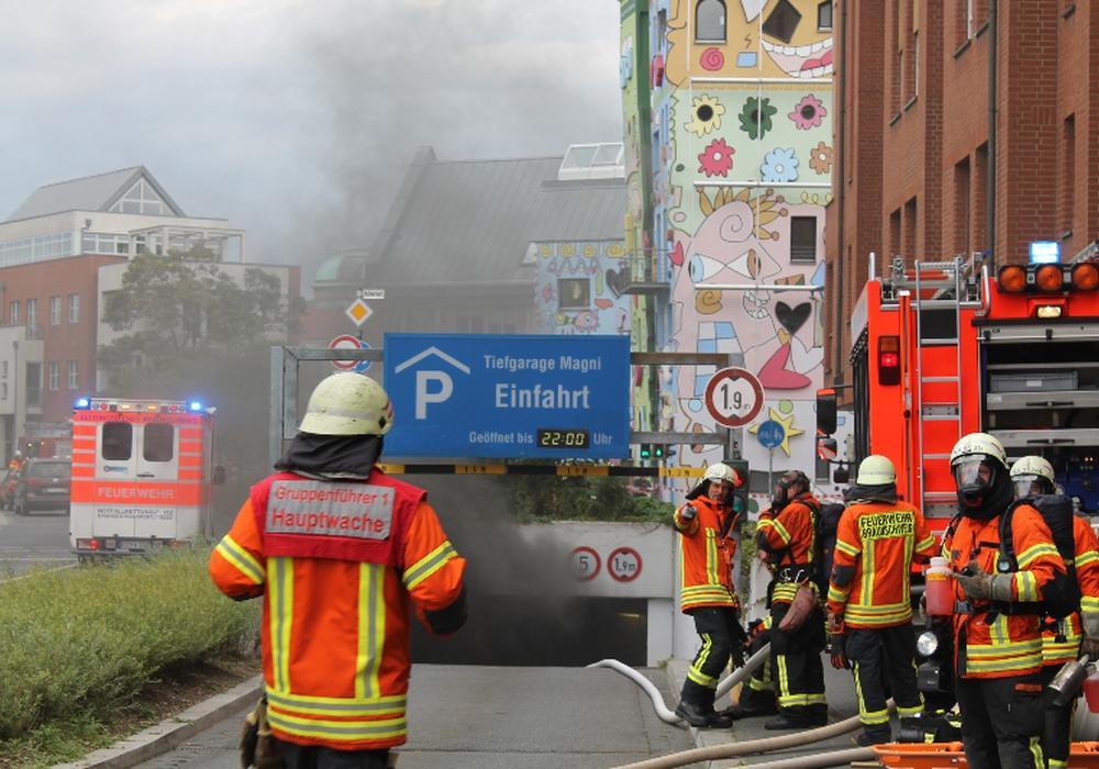Durch den Brand in der Magni-Tiefgarage entstand ein Schaden in Millionenhöhe. Foto: Archiv