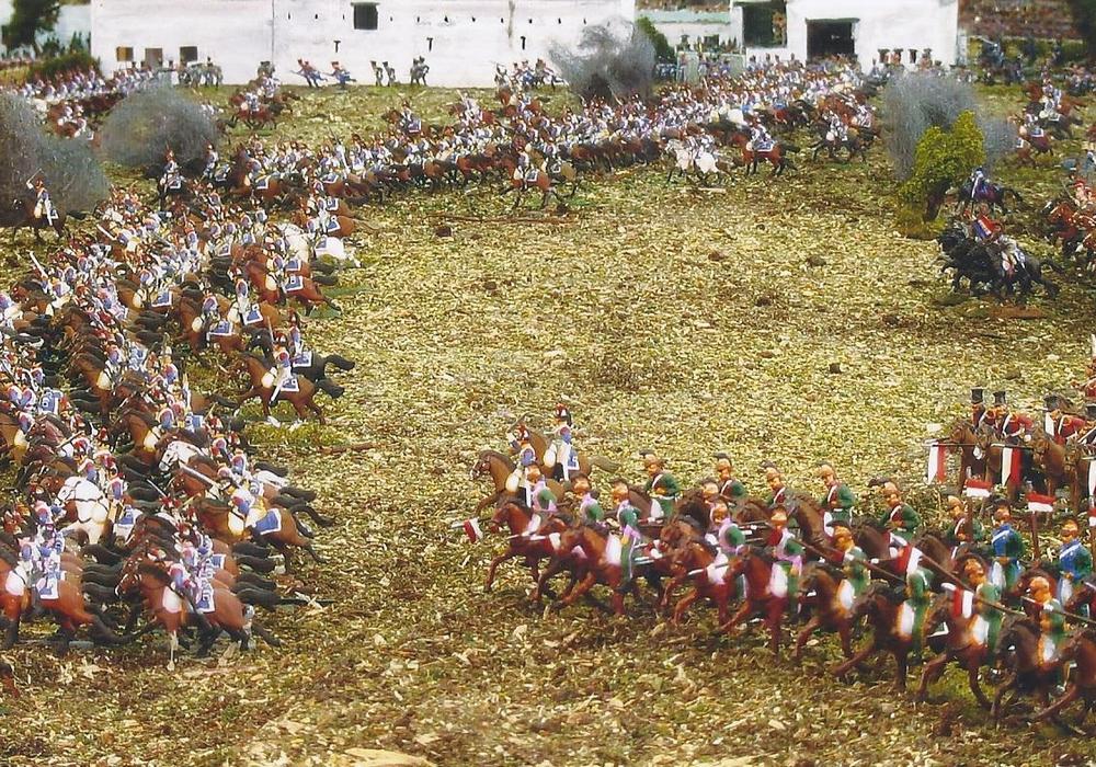Mehr als 60.000 Figuren werden auf 120 qm Fläche das Gefühl der Schlacht von Waterloo präsentieren. Foto: Privat