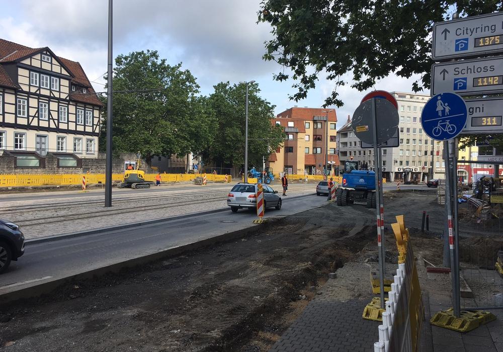 Bereits am vergangenen Donnerstag wurde die Stobenstraße stadteinwärts gesperrt. Foto: Alexander Dontscheff