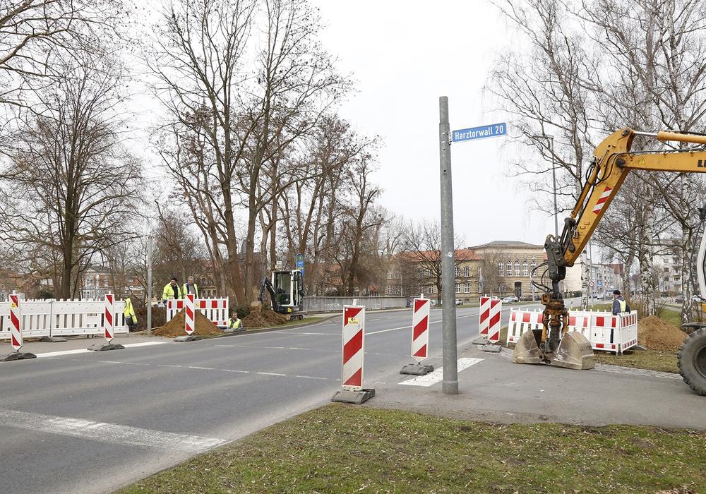 An der Langen Straße wurde eine neue Ampelanlage gebaut. Foto: Thorsten Raedlein/Stadt Wolfenbüttel