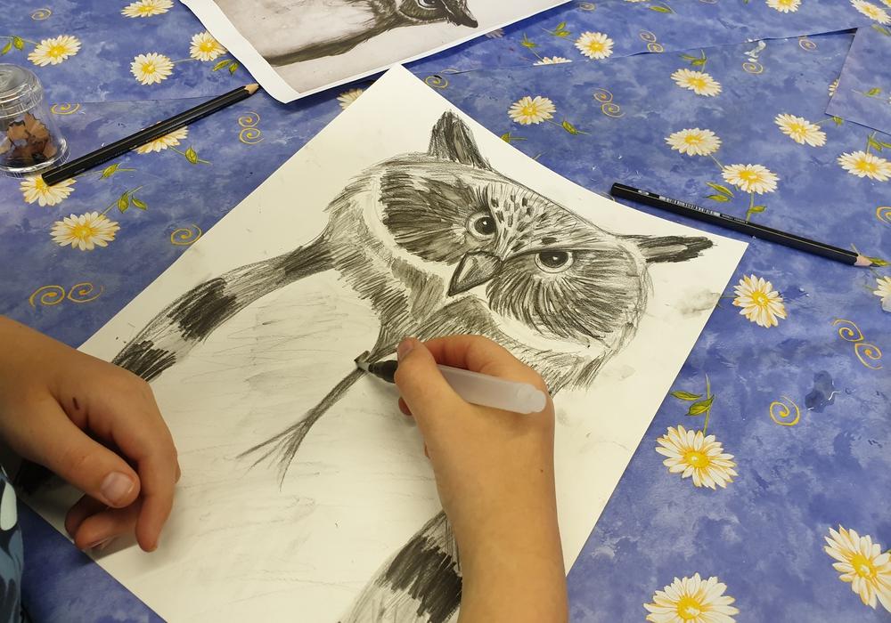 Die Kinder nahmen die Ausflüge in die Tierwelt als Inspiration für ihre Kunstobjekte. Foto: Stadt Salzgitter