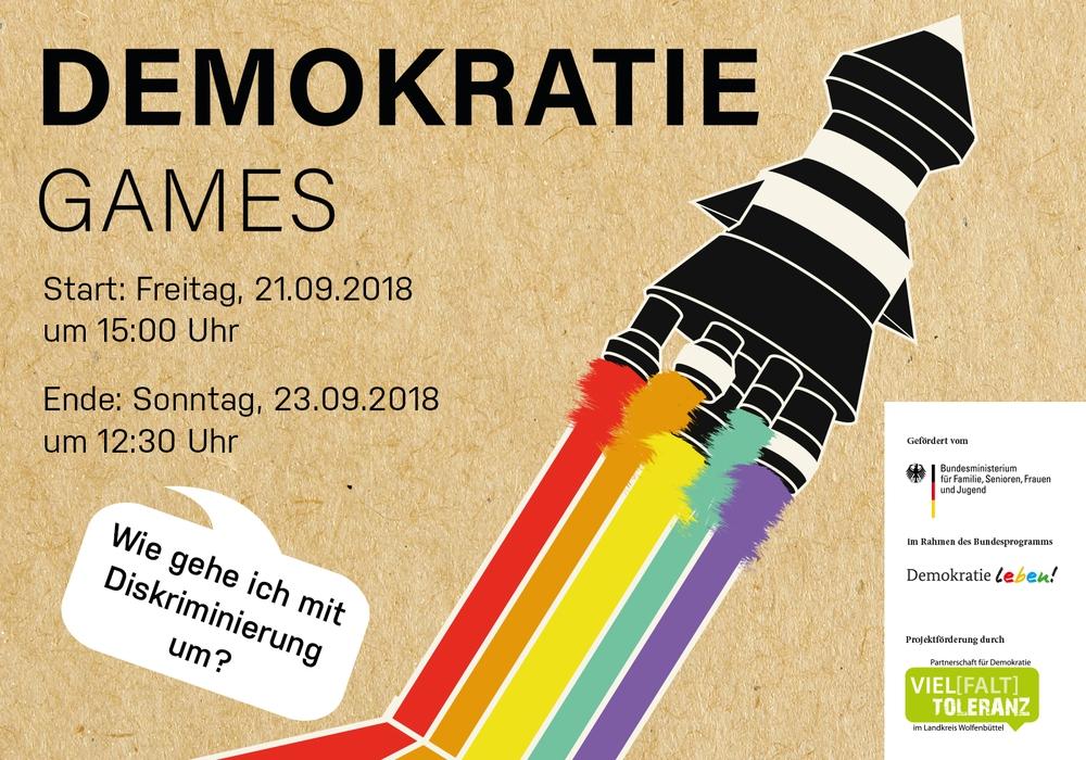 """Antrieb durch bunte Vielfalt bei den """"Demokratie Games"""". Foto: Freiwilligenagentur Jugend-Soziales-Sport e.V."""