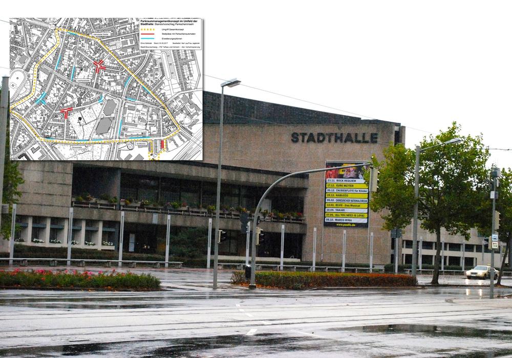 Die Parkplatzsituation an der Stadthalle soll verbessert werden. Foto: Archiv/Stadt Braunschweig