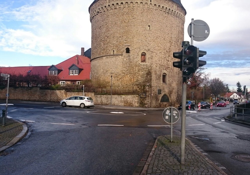 Der Kreisel am Breiten Tor hat sich bewährt. Foto: Philip Tolksdorf