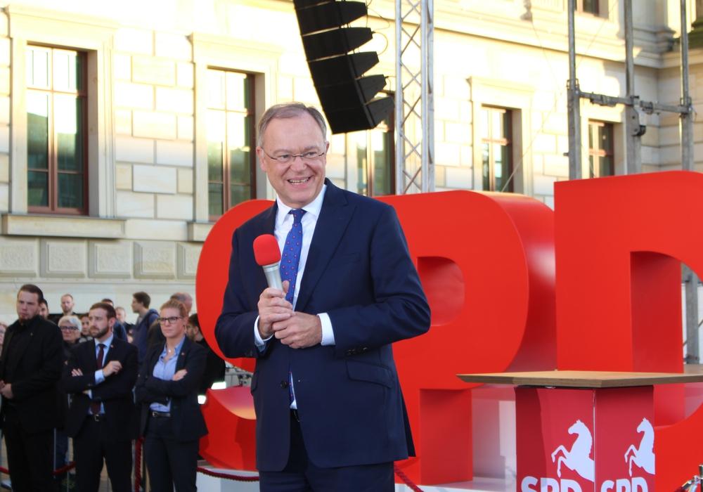 Ministerpräsident Stephan Weil möchte mit der SPD stärkste Fraktion im kommenden niedersächsischen Landtag werden. Fotos und Video: Alexander Dontscheff