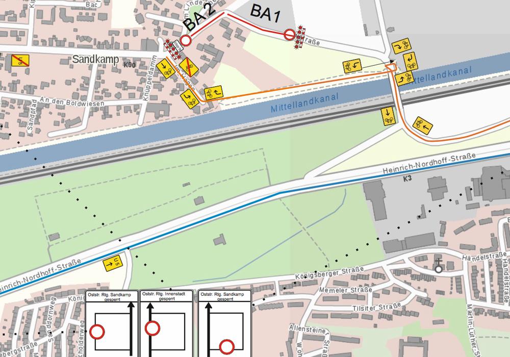 Der Plan zum Radwegneubau Stellfelder Straße. Quelle: Stadt Wolfsburg