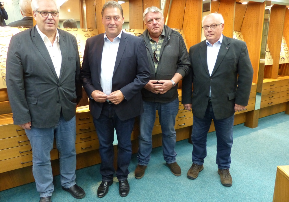 Von links: Peter Posimski, Uwe Lagosky, Eckbert Schulzeund Wolfgang Gürtler. Foto: CDU