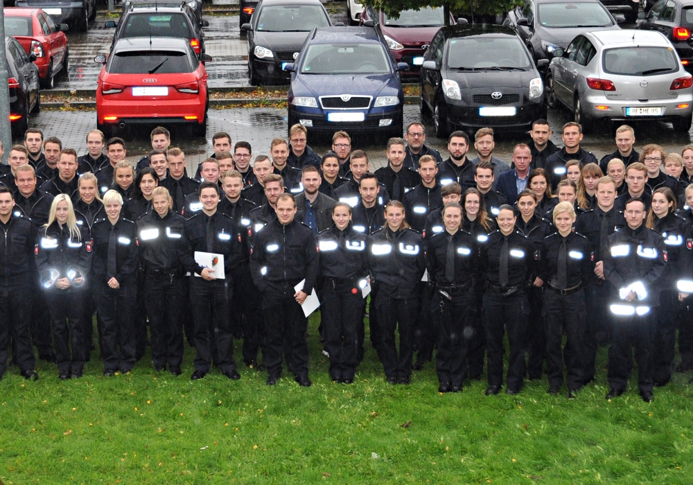 Die neuen Mitarbeiterinnen und Mitarbeiter der Polizeidirektion Braunschweig wurden begrüßt. Foto: Polizei