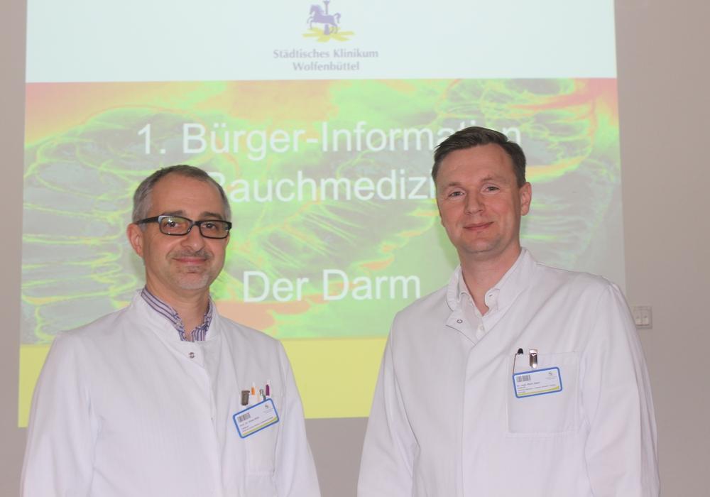 Prof. Dr. Kinan Rifai und Dr. Mark Jäger informieren am 4. April zum Thema Darmkrebs. Foto: Anke Donner