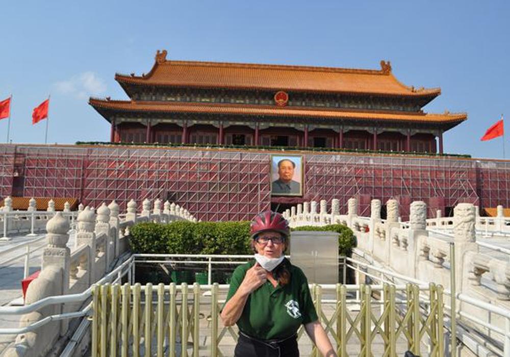 Roswitha Söchtig in Peking. Foto: Privat