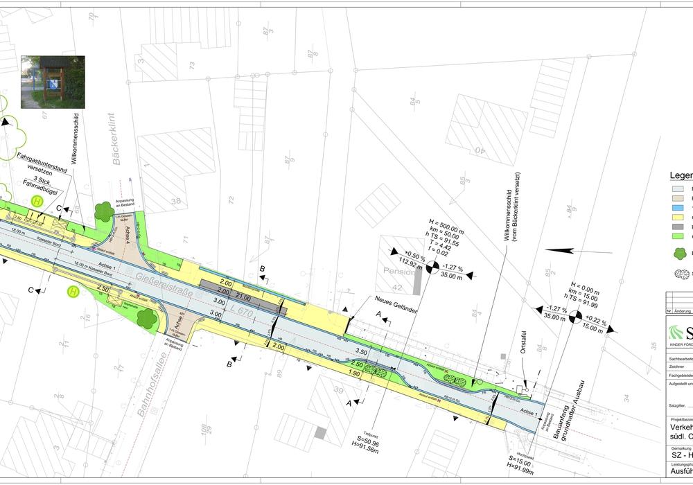 Die Gießereistraße soll komplett erneuert werden. Grafik: Stadt Salzgitter