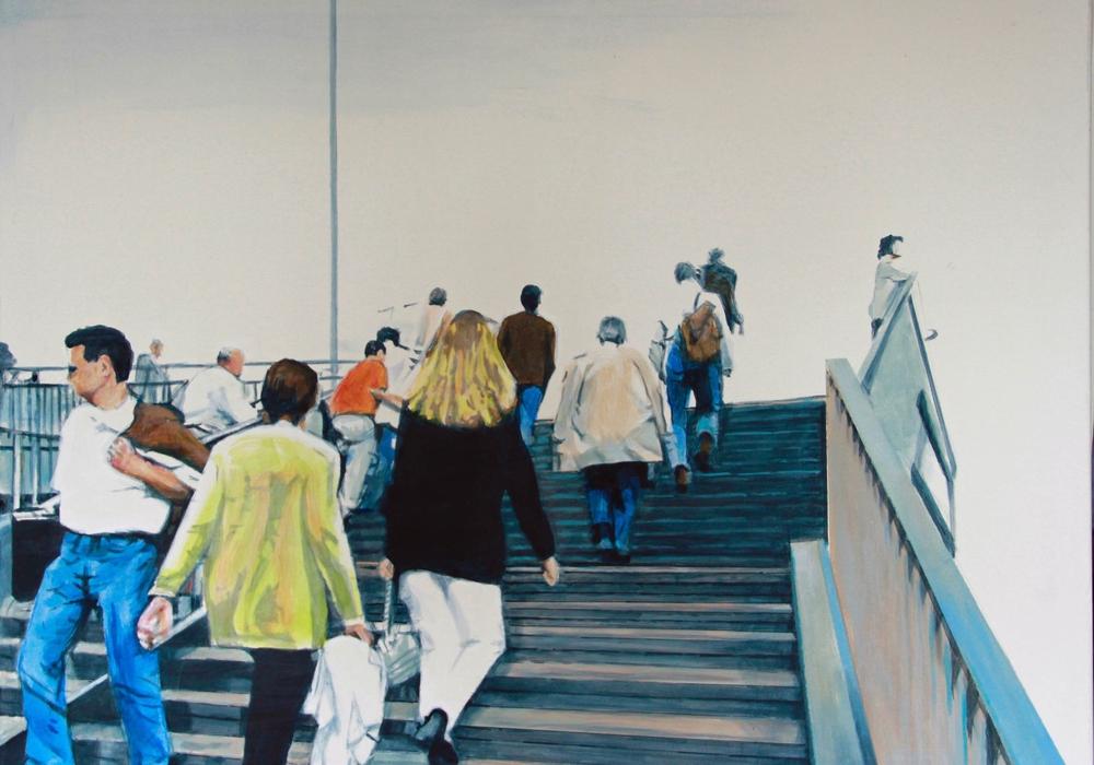"""""""Up and down"""" von Helmut Lingstädt, Acryl auf Leinwand (70x90)."""