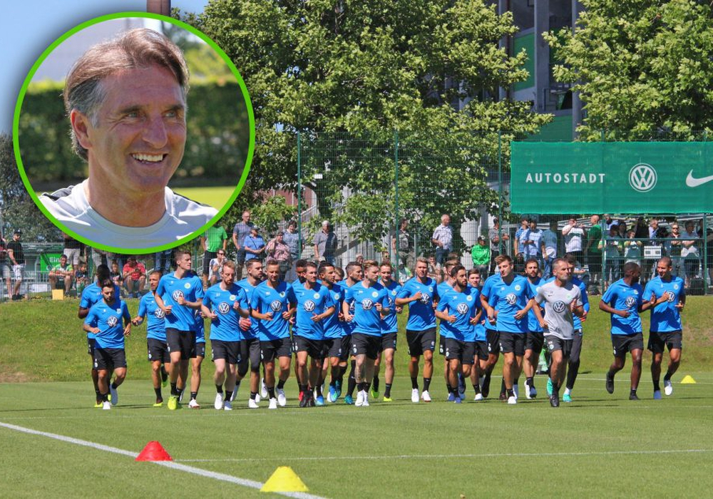 Wieder am Ball aktiv: Chef-Trainer Bruno Labbadia freut sich auf die Vorbereitung. Fotos: Frank Vollmer