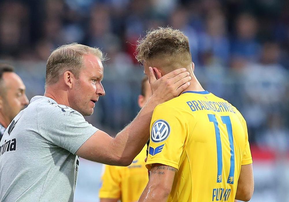 """77 Minuten für die Eintracht: Leandro Putaro ließ gegen Berlin seine """"Power"""" aufblitzen. Foto: Agentur Hübner"""