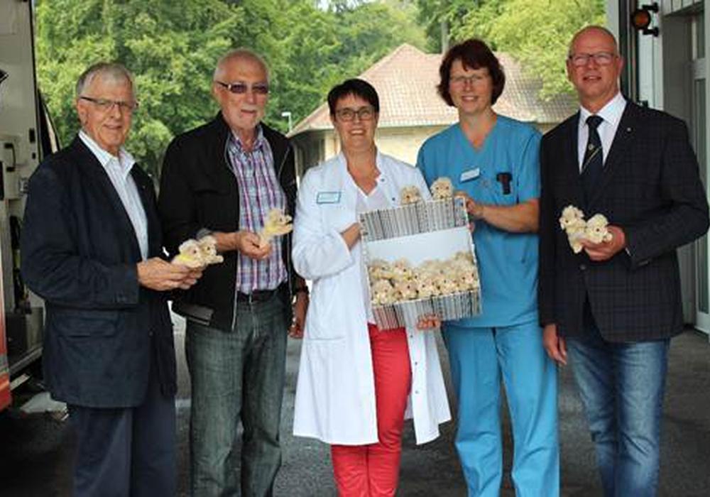 500 neue Plüsch-Löwen warten nun auf die kleinen Patienten. Foto: Klinikum Wolfsburg