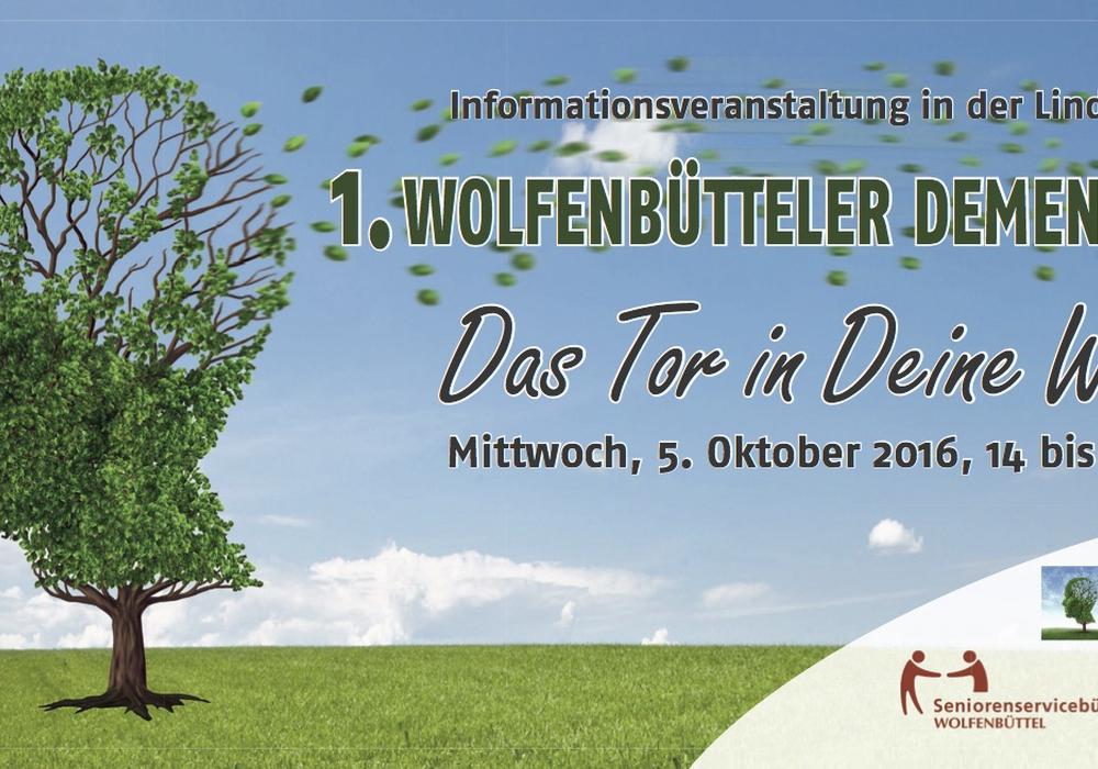 Am Mittwoch, den 05.10.2016 ab 14.30 Uhr findet in die Lindenhalle Wolfenbüttel der erste Wolfenbüttler Demenztag statt.  Foto: Veranstalter
