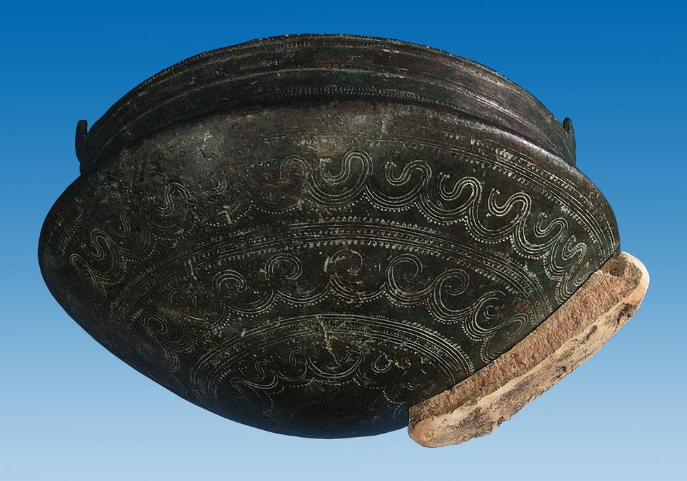 Verziertes Metallbecken aus der Bronzezeit. Foto: A. Pröhle, Braunschweigisches Landesmuseum