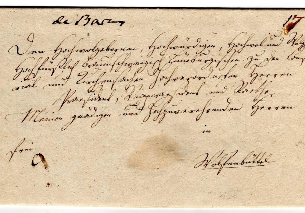 Ein Brief von Salder nach Wolfenbüttel vom 20.5.1787. Foto: Privat