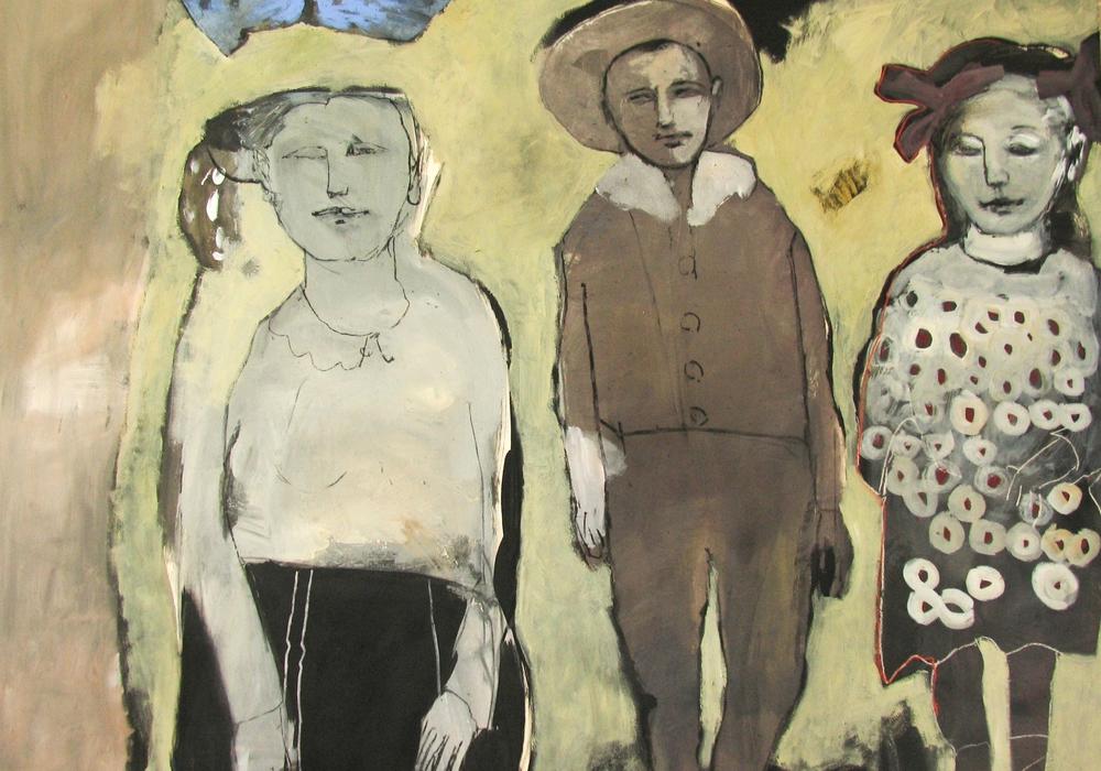 """Das Bild """"Die Kinder"""" von Annette Bohn-Meinecke wird auch Bestandteil der Ausstellung sein. Foto:  Annette Bohn-Meinecke"""