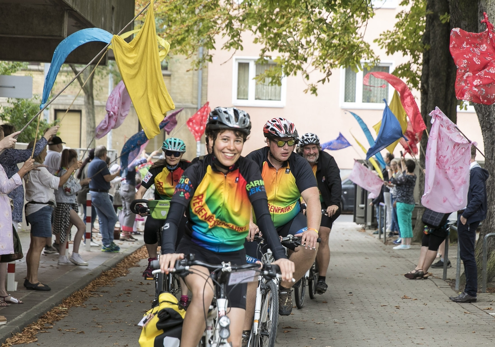 Mutmacher auf Rädern in Braunschweig. Fotos: Peter Sierigk / Klinikum Braunschweig