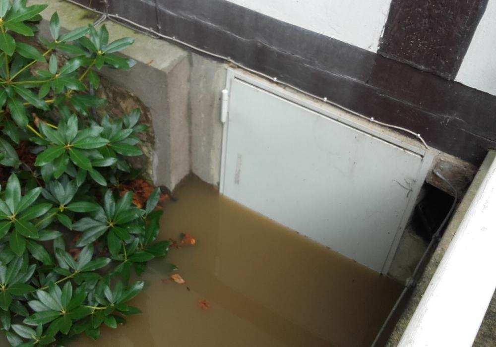 Die Kellertür des Heimathauses stand fast vollständig unter Wasser. Foto: Förderverein Heimathaus