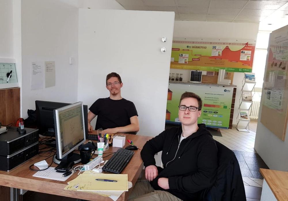 Die FÖJ'ler Pascal Strobel und Julius Tristan Röhrdanz. Foto: reka