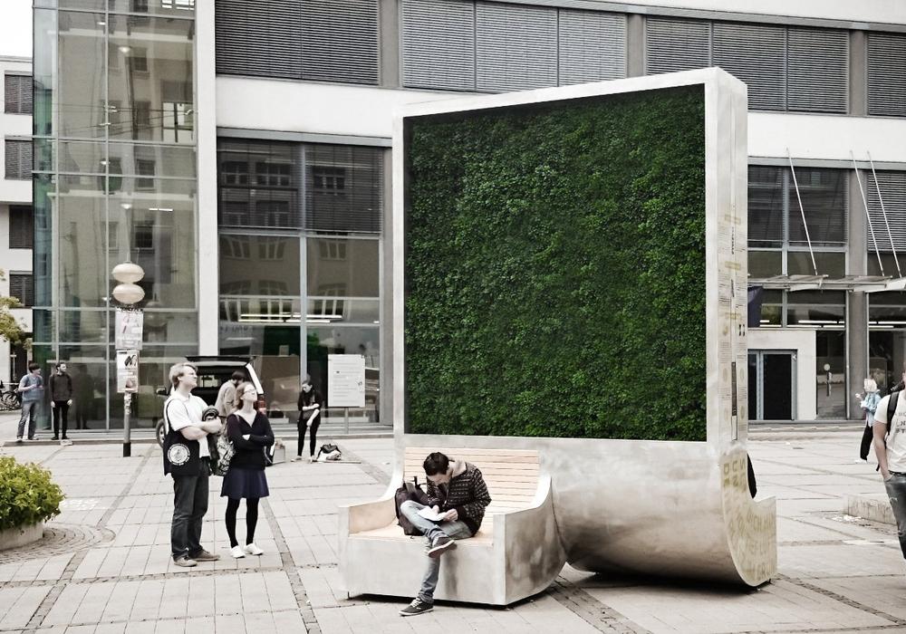 In Jena steht bereits ein CityTree. Symbolfoto: Green City Solutions