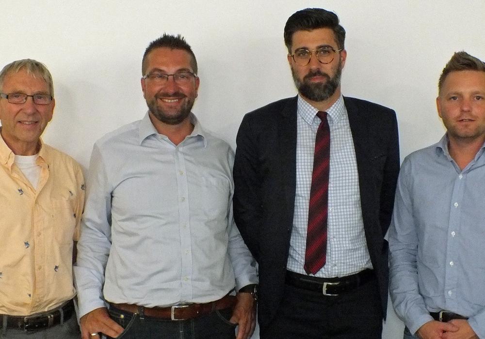 Der amtierende Vorstand der Kreisverkehrswacht Helmstedt e.V.: v.l.n.r: Josef Temmeyer, Arnd Vinzenz Schneider, Sebastian Gutt und Dennis Heinze. Foto: Achim Klaffehn
