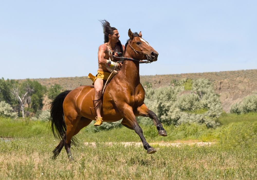 Aufführung Custer's letzte Schlacht. Auf Ihrer Reise hat Gabriele Kärcher viele Menschen kennengelernt in deren Leben Pferde eine zentrale Rolle spielen. Foto: Gabriele Kärcher