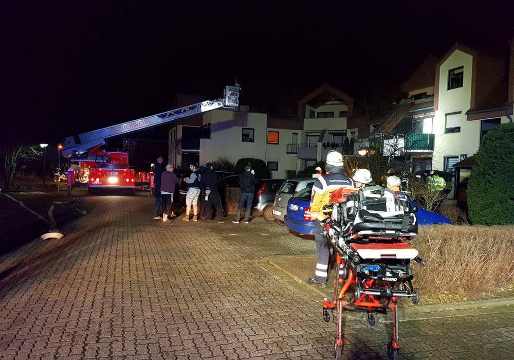 Beim Brand in der Campestraße kam der DRK-Rettungsdienst zum Einsatz. Foto: DRK