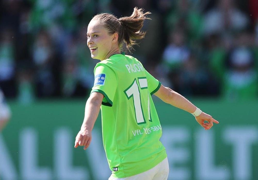 Ewa Pajor traf zum Ausgleich für den VfL Wolfsburg. Foto: Agentur Hübner/Archiv