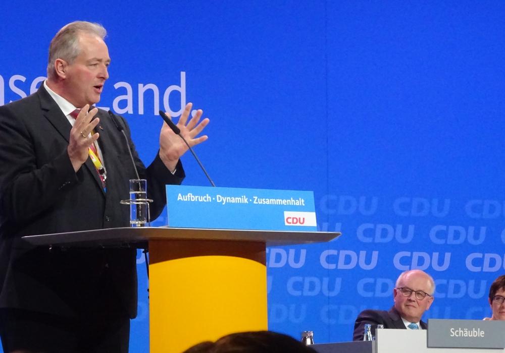 Frank Oesterhelweg während eines Redebeitrages auf dem CDU-Bundesparteitag. Foto: CDU