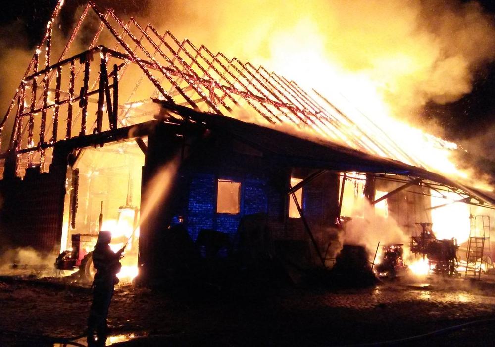Brand in Groß Stöckheim, Foto: Feuerwehr