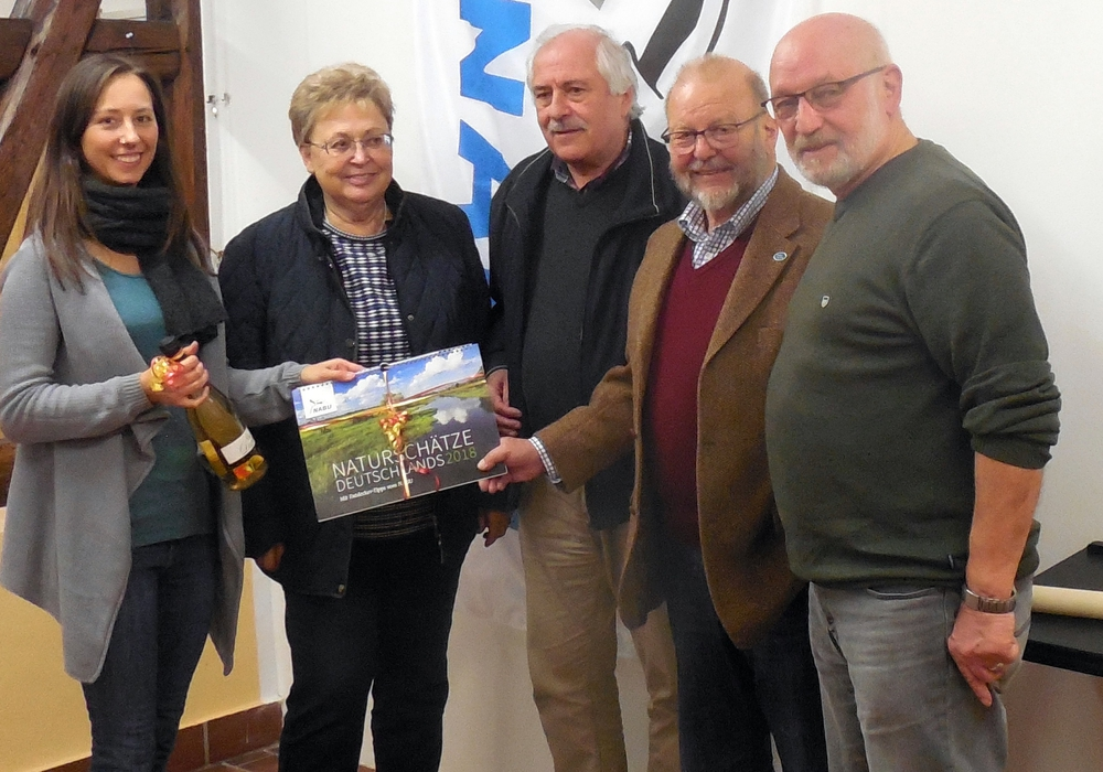Marieke Neßmann, Bärbel Umbach, Hermann Lichtsinn, Karl-Heinz Dorge und Reinhard Wagner. Foto: NABU/Reinhard Wagner
