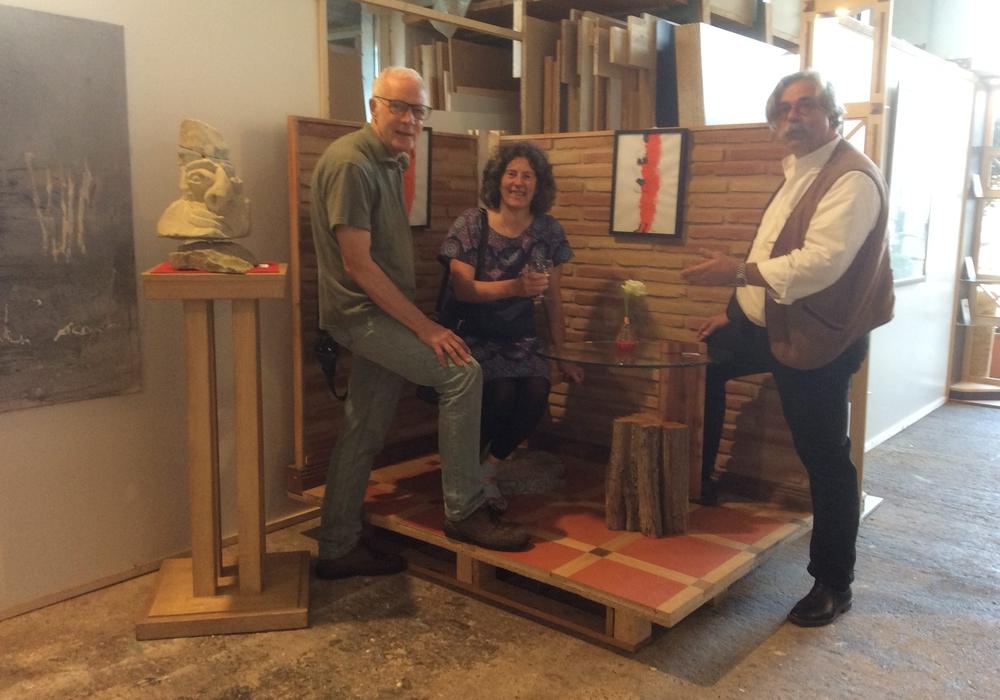 Von links: Pieter K.G. Welge, Ghalia El Boustami und Uwe Teichmann. Foto: Privat