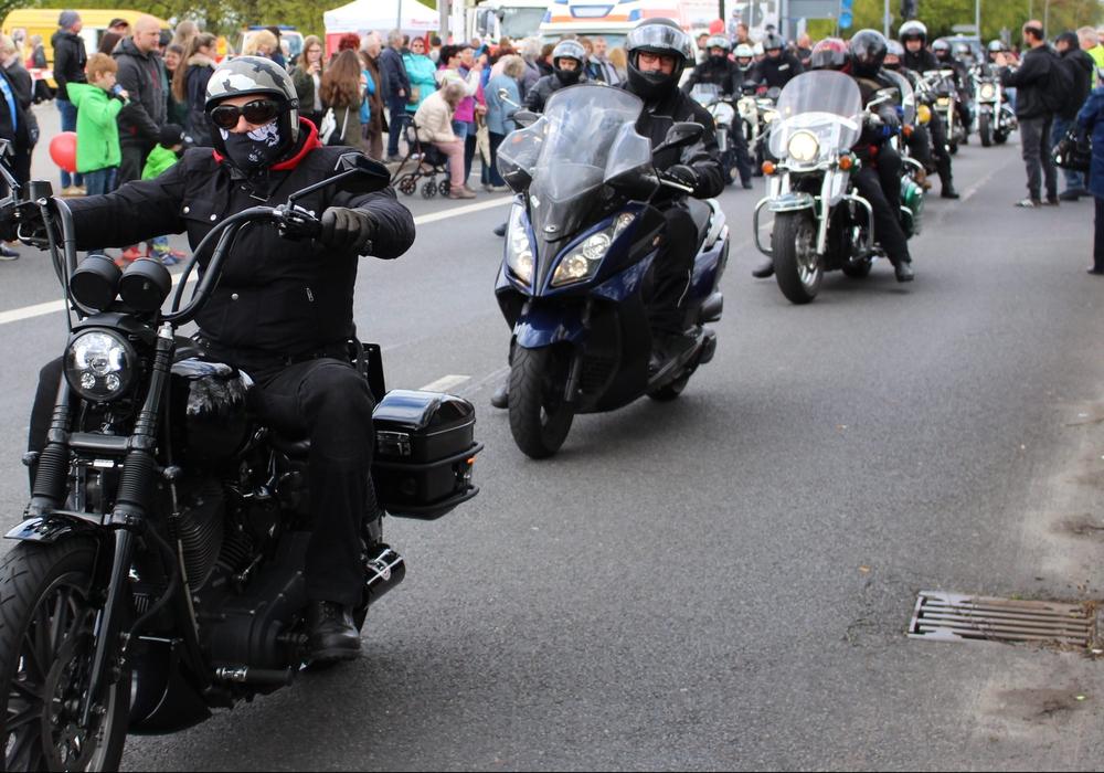 Die Motorradgedenkfahrt 2017. Foto: Archiv