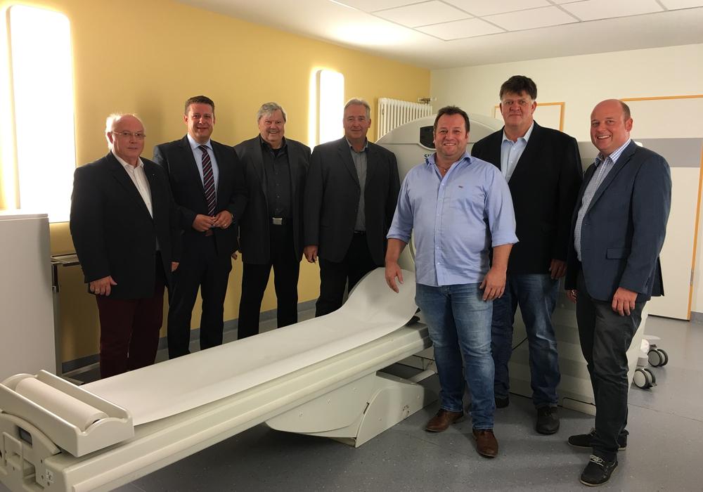 Im Bild von links nach rechts: Wolfgang Gürtler, Ingolf Senking, Heinz Dieter Eßmann, Frank Oesterhelweg, Dirk Marske, Wolfgang Ulrich und Holger Bormann. Foto: privat