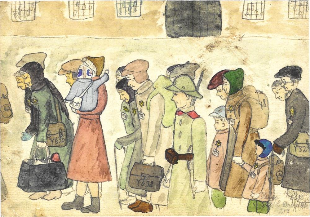 """In der Gedenkstätte  Schillstraße wird bis zum 8. April die Ausstellung """"Ein Kind zeichnet Theresienstadt"""" gezeigt. Foto: Gedenkstätte"""