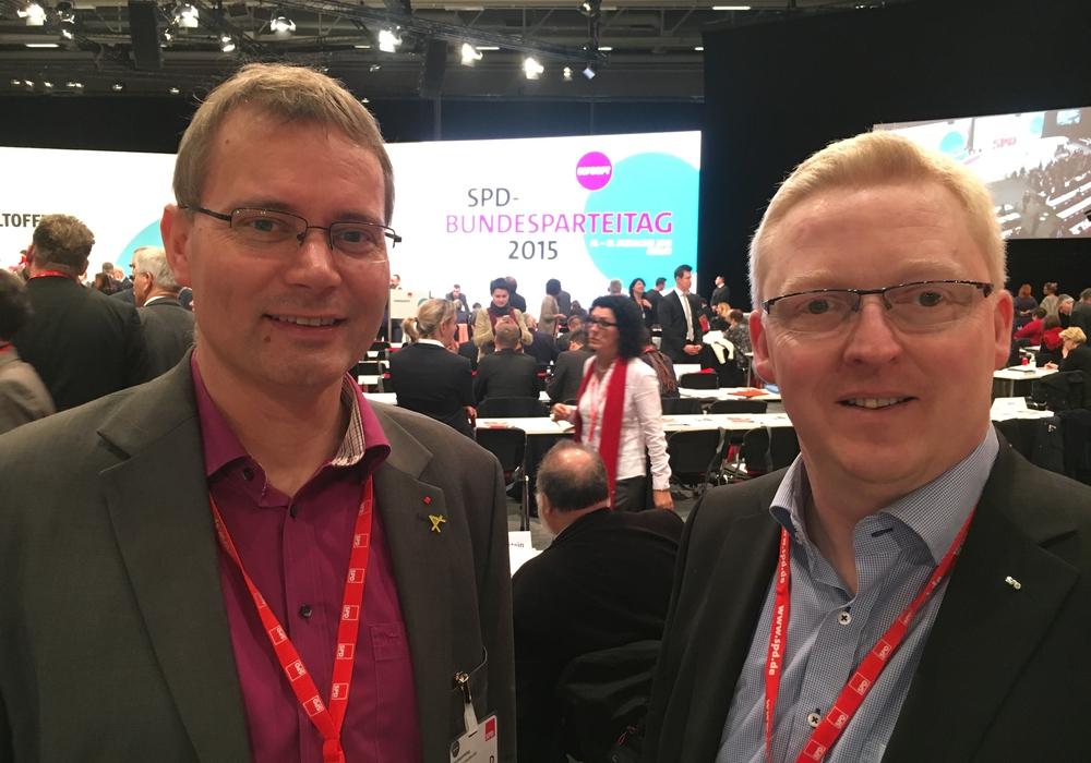 Udo Dettmann und Falk Hensel beim SPD Bundesparteitag in Berlin. Foto: Privat
