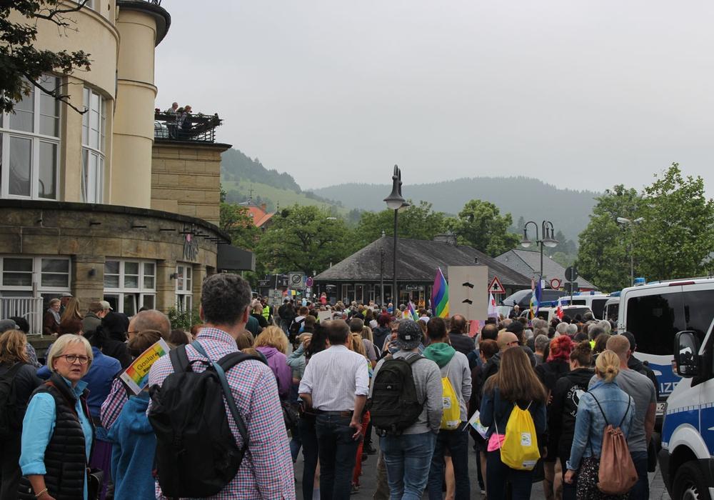 Zwischen Hotel Achtermann und Bahnhof. Hier begann die Demo. Foto: Alexander Panknin
