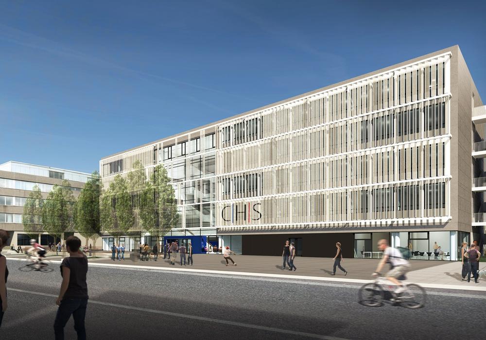 Der Entwurf des neuen Hauses A der Carl Hahn-Schule. Foto: Stadt Wolfsburg