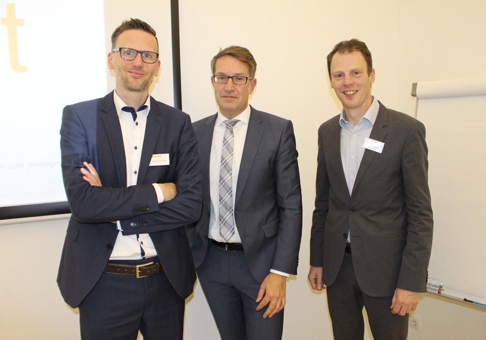 Hans-Joachim Gras (new communication), Gerold Leppa und Stefan Urbanski (CIMA) stellten die Ergebnisse der Studie vor (v. li.). Foto: Alexander Dontscheff