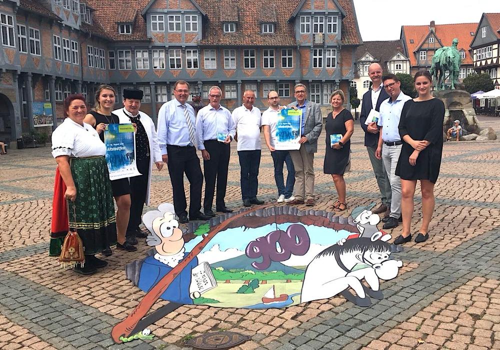 Die Organisatoren des Altstadtfests bei der Vorstellung des Programms. Foto: Nick Wenkel